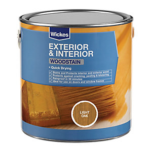 Wickes Woodstain Light Oak 2.5L