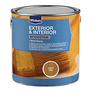 Wickes Woodstain Light Oak 750ml