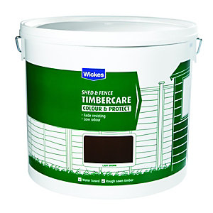 Wickes Shed & Fence Timbercare Light Brown 12L