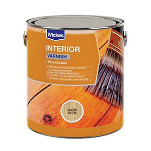 Wickes Professional Interior Varnish Clear Satin 2.5L