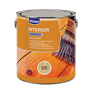 Wickes Professional Interior Varnish Clear Satin 750ml