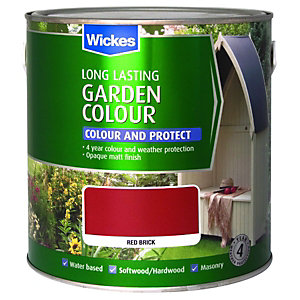Wickes Garden Colour External Wood Paint Red Brick 2.5L