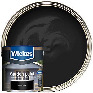 Wickes Garden Colour External Wood Paint Blackbird 2.5L