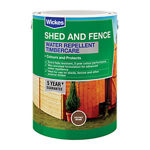 Wickes Water Repellent Timbercare Chestnut Brown 5L