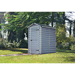 Palram Skylight Grey Shed 4x6