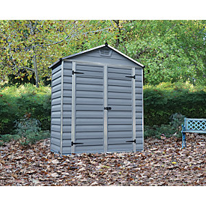 Palram Skylight Grey Shed 6x3