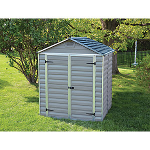 Palram Skylight Grey Shed 6x5