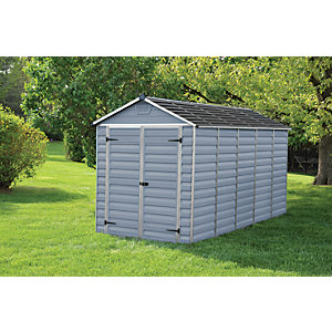 Palram Skylight Grey Shed 6x12