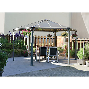 Wickes Monaco Hexagonal Gazebo 4.4x4.4m