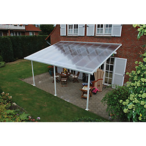 Palram Feria Patio Cover White Clear 3x5.46m
