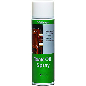 Wickes Teak Oil Aerosol 500ml Clear