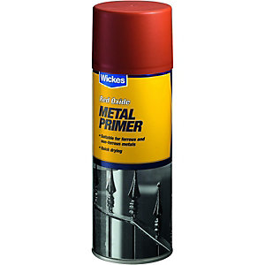 Wickes All Purpose Primer Red Oxide Spray Paint 400ml