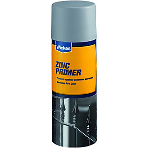 Wickes All Purpose Zinc Primer Spray Paint 400ml