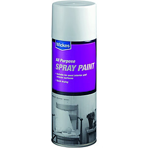 Wickes All Purpose Spray Paint Gloss White 400ml