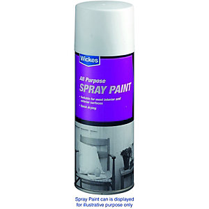 Wickes All Purpose Spray Paint Satin White 400ml