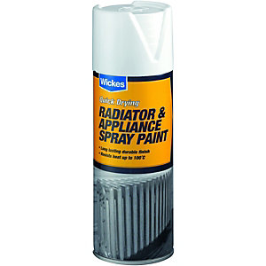 Wickes Satin Radiator Spray Paint White 400ml