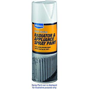 Wickes Satin Radiator Spray Paint Silver 400ml