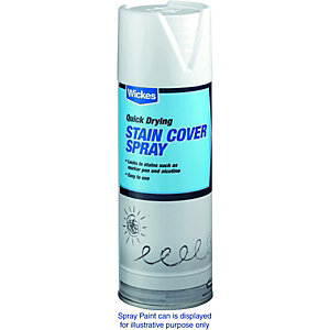 Wickes Stain Cover Seal Spray Paint White 400ml