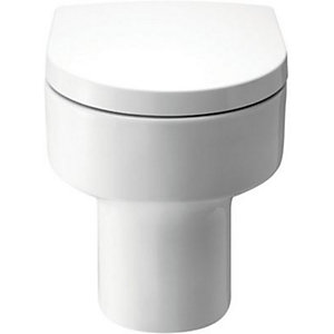 Wickes Sesto Back to Wall Toilet Pan with Toilet Seat