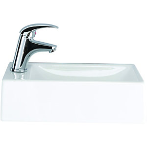 Wickes Sorrento Cloakroom Basin Left Hand 400mm