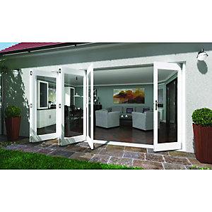 Wickes Lyndon Finished Folding Patio Door White 14ft Wide