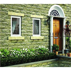 Wickes Timber Casement Window White 1195x625mm LH Side Hung