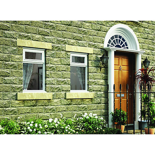 Wickes timber b rated casement window white 625x1045mm top for R rating for windows