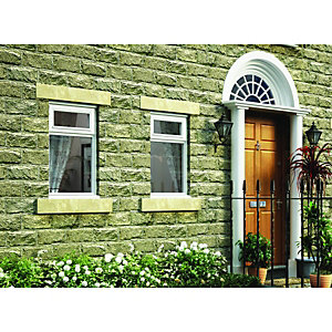 Wickes Timber B Rated Casement Window White 1045x910mm Top Hung Vent