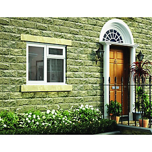 Wickes Timber Casement Window White 1045x1195 LH Side Hung & Top Hung Lite