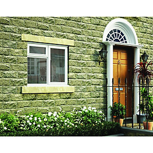 Wickes Timber Casement Window White 1045x1195 RH Side Hung & Top Hung Lite