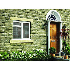 Wickes Timber Casement Window White 1195x1195mm RH Side Hung with Top Hung Lite