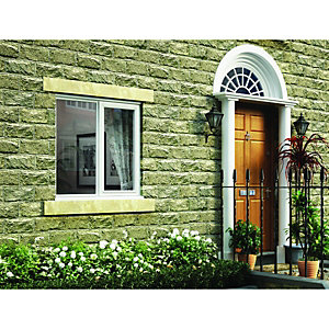 Wickes Timber Casement Window White 1195x1195mm RH Side Hung with Fixed Lite