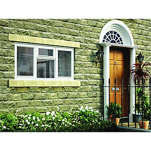 Wickes Timber Casement Window White 1195x1765mm Side Hung & Top Hung Lite