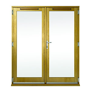 Wickes Albery Pattern 10 Solid Oak Laminate French Doors 4ft