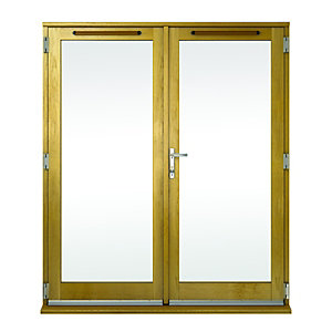 Wickes Albery Pattern 10 Solid Oak Laminate French Doors 6ft