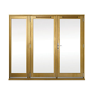 Wickes Albery Pattern 10 Solid Oak Laminate French Doors 7ft with 1 Side Lite 600mm