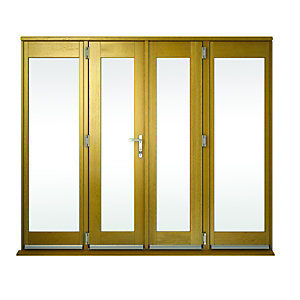 Wickes Albery Pattern 10 Solid Oak Laminate French Doors 9ft with 2 Side Lites 600mm
