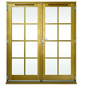 Wickes Albery Georgian Bar Solid Oak Laminate French Doors 4ft