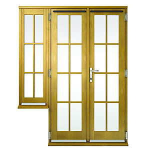 Solid oak french doors exterior french doors for Georgian french doors exterior