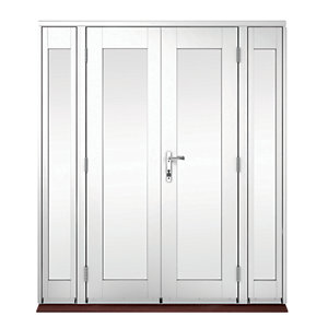Wickes Derwent Softwood French Doors White Finish 8ft With 2 Side Lites 300mm