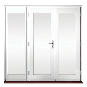 Wickes Derwent Softwood French Doors White Finish 4ft With 1 Side Lite 600mm