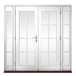 Wickes Coniston Georgian Bar Softwood French Doors 8ft with 2 Side Lites 300mm