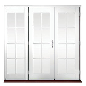 Wickes Coniston Georgian Bar Softwood French Doors 5ft with 1 Side Lite 600mm