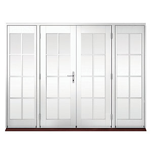 Wickes Coniston Georgian Bar Softwood French Doors 6ft With 2 Side Lites 600mm