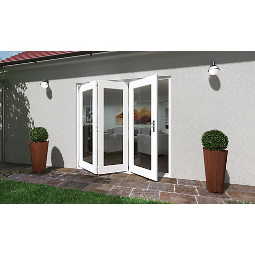 Wickes Lyndon Finished Folding Patio Door White 7ft Wide