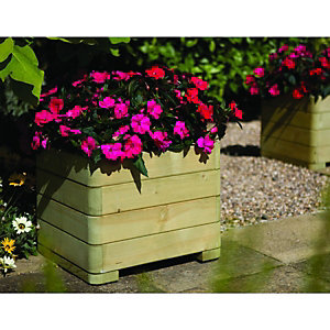 Wickes Marberry Square Timber Planter 390 x 500 x 500mm