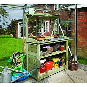 Rowlinson Potting Station Storage Unit 1620x1030x530mm Green