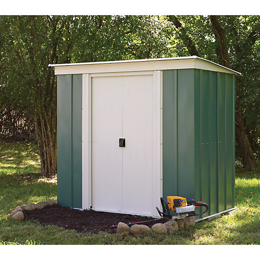 Rowlinson metal pent shed without floor 6x4 for Plastic pent shed