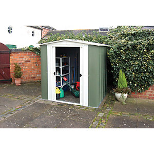 Rowlinson Metal Apex Shed W/O Floor 6x5