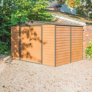 Rowlinson Metal Apex Shed W/O Floor 10x8